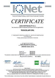 Certificazione UNI EN ISO 45001 Sicurezza
