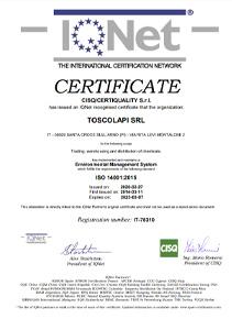 Certificazione ambientale UNI EN ISO 14001 2015